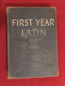 RARE Vintage Hardcover Ed. First Year Latin by Robert J. Henle, 1943, Loyola U.