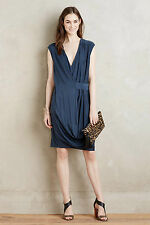 New $138 ANTHROPOLOGIE HD IN PARIS BRYNN DRAPEY WRAP SLEEVELESS DRESS M MD