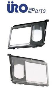 For Mercedes URO PARTS Headlight Door Set Left+Right w/ Lens for Fog Lamp