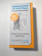 Switchmate Rsm002W White Snap-On Instant Smart Light Switch Bluetooth Brand New