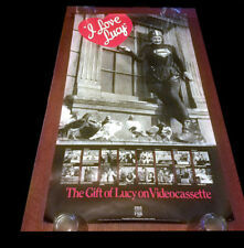 I LOVE LUCY Video Store VHS Promo Poster Rolled RARE 22x40