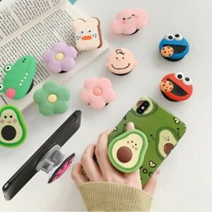 New Cartoon Round Universal Mobile Phone Ring Holder Airbag Fold Stand Bracket