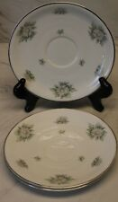 Krautheim Franconia Lot of 3 Saucers - Silver Thistle