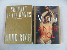 Lot of 2 Anne Rice Servant of the Bones & Violin 1st Editions