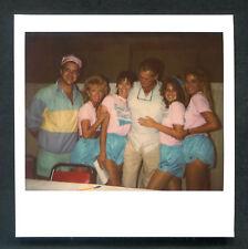 TED WILLIAMS With Sexy Ladies Polaroid Photo 1989 Vintage Original Photograph