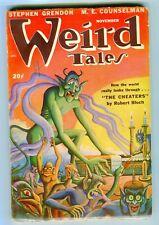WEIRD TALES   Nov. 1947  VG  cream pages.  Matt Fox cover. Pulp