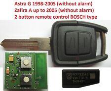 opel  astra ZAFIRA BOSCH Schlüssel Funkschlüssel Fernbedienung TRANSPONDER ID40