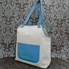 Rise-on HERMES Toile H Canvas Jardinier Light Blue Shoulder Tote bag #66 t
