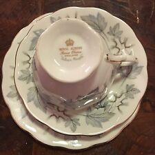 Royal Albert Tea Set Trio Silver Maple