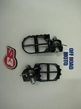 S3 Trials Bike Footpegs / Footrests. Black. TOP QUALITY. COMPLETE WITH FITTINGS