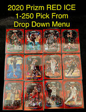 2020-21 Prizm RED ICE Basketball Cards 1-250 Complete Your Set You Pick Card