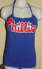 Ladies Philadelphia Phillies Reconstructed MLB Baseball Shirt Halter Top DiY
