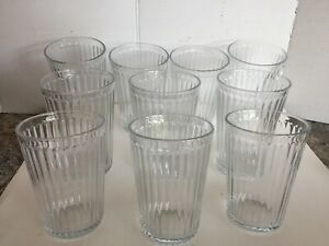 """12 oz - SVEPA by IKEA 4-7//8/"""" x 3/"""" Lot of 4 Stackable Drinking Glass Tumblers"""