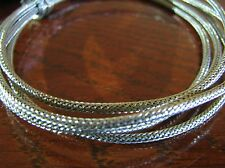 3  Feet  Modern Vintage Braided Shield Push Back Wire  AWG #22 Tinned Copper