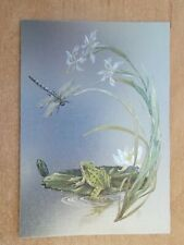 DUFEX REFLECTIVE FOIL POSTCARD - FROG AND DRAGONFLY  5770