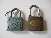 Vintage Padlocks Vintage Sidco locked and AAA Padlock unlocked No Keys