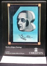 Catalogue Christie's 16 octobre 1990 Modern belgian paintings Peinture belge TBE