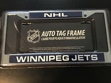 Disney NHL Winnipeg Jets Chrome Metal License Plate Tag Frame Reg $21.95