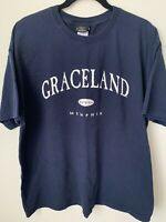 Elvis Presley Direct From Graceland T Shirt XL Memphis 2005 Rock N Roll Navy