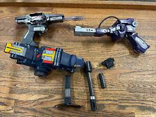 Lot Gobots Laser Gun + 1983 vtg Toyco SHOCKWAVE Original G1 Transformers RARE!