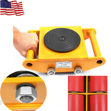 Heavy Duty Machine Dolly Skate Machinery Roller Mover Cargo Trolley 6Ton USA