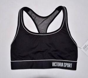 VICTORIA'S SECRET Sport Black Sports Bra Small S NEW Active Gym Yoga VS