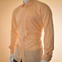 Eterna for mens casual shirt top size 42 light orange long sleeve Genuine