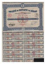 ACTION  100 FR SOCIETE DU DOMAINE DE KEBAO (mine du tonkin) 1927