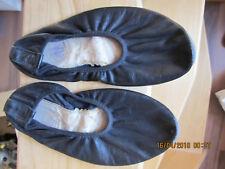 Turn,- Ballett,- Bauchtanz,- Gymnastikschuhe Schläppchen Gr. 38 schwarz getragen
