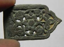 Zurqieh -as6548- Ancient Islamic. Mamluk Bronze Belt Buckle. 1300 A.D
