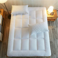 US Stock 8-21 Inch Fitted Deep Pocket Edilly Extra Thick Twin Cotton Cooling Mattress Pad Cover Pillow Top Quilted Mattress Topper with Snow Down Alternative Filling Soft