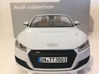 Minichamps 5011400515 Audi TT Roadster Glacier White 1:18 Scale NEW