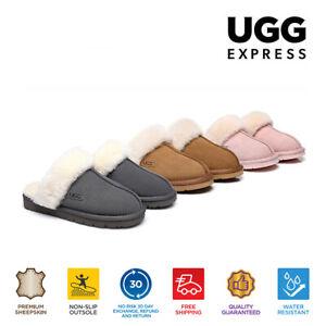 【EXTRA17%OFF】UGG Muffin Slippers Unisex Scuff AU Sheepskin Wool Suede Upper