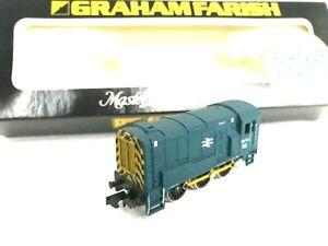 N Gauge Graham Farish  No.1007 Class 08 DIESEL shunter BR Blue