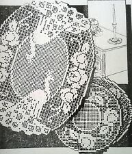 5726 Vintage Alice Brooks FILET PEACOCK DOILY Patterns to Crochet (Reproduction)