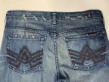 7 FOR ALL MANKIND Jeans 27 Womens A Pocket Bootcut Distressed Bling Deco 27x35