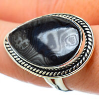 Large Psilomelane 925 Sterling Silver Ring Size 8.5 Ana Co Jewelry R33605F