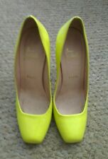 Amazing and rare! Christian Louboutin neon yellow courts heels 38 UK 5