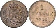 Heller 1840 Bayern Ludwig I., 1825-1848, Löwe, Krone #N389