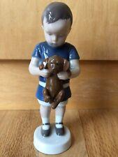 Collectible Vintage Porcelain Bing & Grøndahl Boy With Puppy Figurine