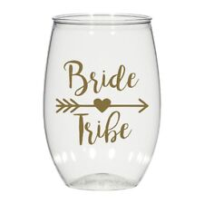 16 oz personalized stemless wine glass, weddings cups party favors Bride Tribe