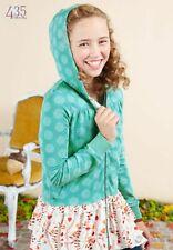 Matilda Jane Girls sz 12 Hansel Hoodie NEW Teal Green Long Sleeve Hooded Jacket