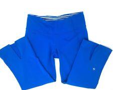 Lululemon Gather And Crow Split Calf Leg Crop Capri Pants Royal Blue Size 8