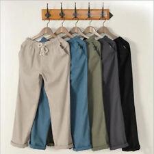 Linen trousers Beach pants Multicolor fashion men casual pants