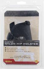 """Handgun Holster - Allen Cortez Nylon Hip Holster 3.25"""" - 3.75"""" Semi Autos Size 8"""