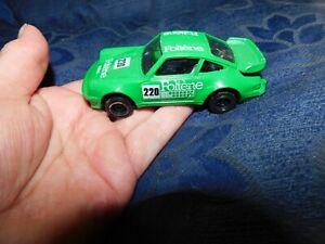 COLLECTABLE DIE CAST MODEL CORGI PORSCHE 911 TURBO GREEN FOLTENE #1