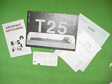 New listing Vtg Harman Kardon T-25 Turntable Owner's instructions Manual Japan Oop w/Inserts