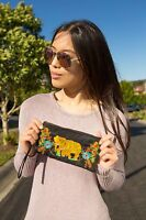 Limited edition of Genuine Embroidered Vintage Tribal BOHO wallet, clutch, purse