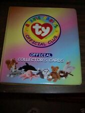 TY 1998 BEANIE BABIES OFFICIAL CLUB LOOSE LEAF CARDS NOTEBOOK  6 - ADULT
