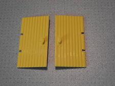 LEGO - 2 GIALLO PORTE 1 x 4 x 6-buone condizioni (3644)